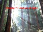 Chapter 1:  Nature of light