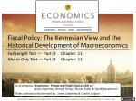 Fiscal Policy: The Keynesian View and the Historical Development of Macroeconomics