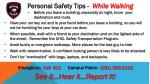 Personal Safety Tips -   While Walking