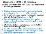 Warm-Up –  10/28  – 10 minutes