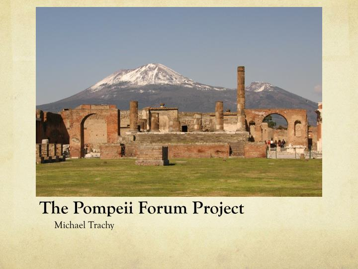 the pompeii forum project n.