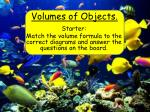 Volumes of Objects.