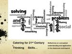 Catering for 21 st  Century Thinking     Skills…