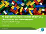 An explicit OWL representation of ISO/OGC Observations and Measurements