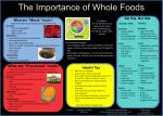 The Importance of Whole Foods