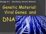 Biology 9.1 Identifying Genetic Material