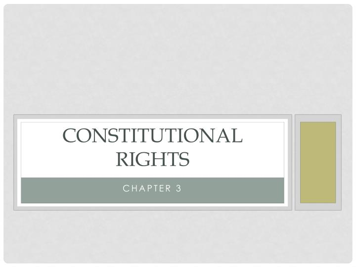 constitutional rights n.