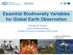 Essential Biodiversity Variables for Global Earth Observation