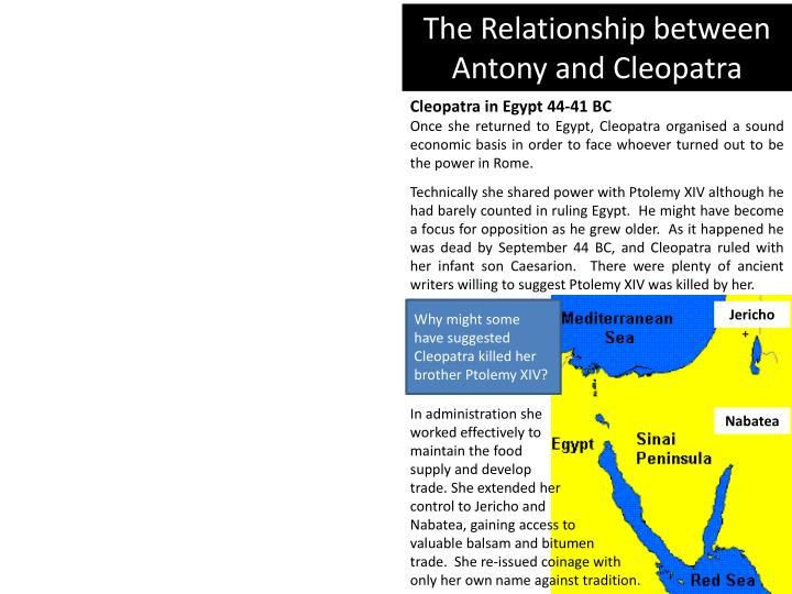 the relationship between antony and cleopatra n.