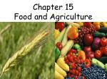 Chapter 15  Food and Agriculture