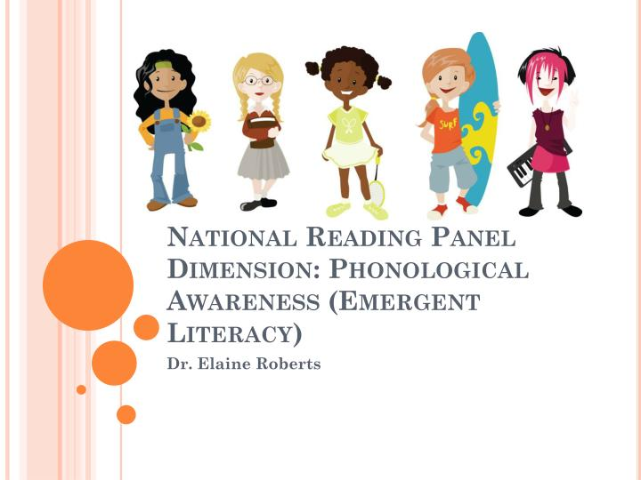 national reading panel dimension phonological awareness emergent literacy n.
