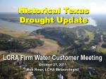 Historical Texas Drought Update