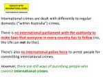 DEALING WITH INTERNATIONAL CRIME