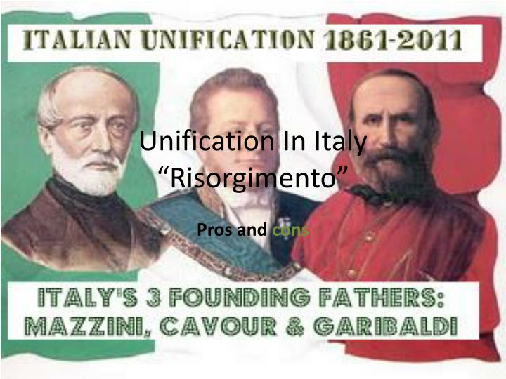 unification in italy risorgimento n.
