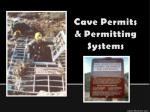 Cave Permits & Permitting Systems
