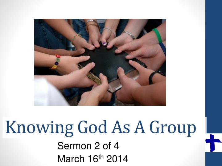 knowing god as a group n.