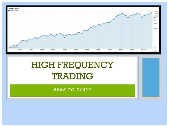 high frequency trading n.