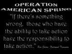 Operation American Spring