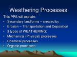 Weathering Processes