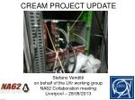 CREAM PROJECT UPDATE