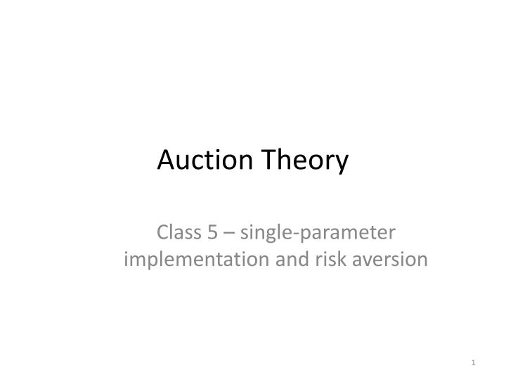 auction theory n.