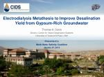 Electrodialysis Metathesis to Improve Desalination Yield from Gypsum-Rich Groundwater