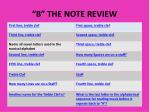 """""""B"""" THE NOTE REVIEW"""
