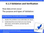 4.1. 3 Validation and Verification