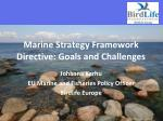 Marine Strategy Framework Directive: Goals and Challenges