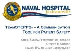 TeamSTEPPS ® – A Communication Tool for Patient Safety