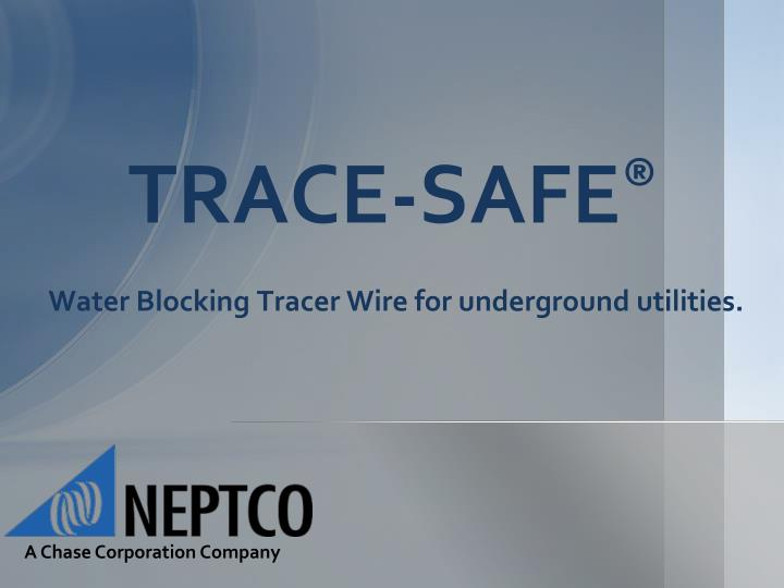 trace safe water blocking tracer wire for underground utilities n.