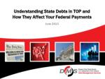 Understanding State Debts in TOP and How They Affect Your Federal Payments June 2013