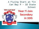 A Flying Start at Tin Can Bay P – 10 State School