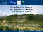 Effects of Land Use Change on Soil Organic Carbon Dynamics in Northwestern Vietnam