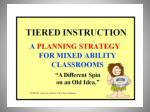 """Tiered Instruction"""