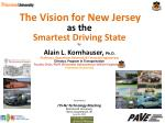 The Vision for New Jersey as the Smartest Driving State by