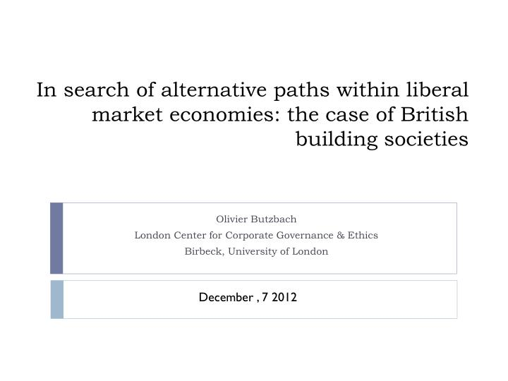 PPT - Olivier Butzbach London Center for Corporate