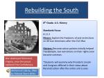 Rebuilding the South