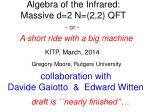 Algebra of the Infrared: Massive d=2 N=(2,2) QFT