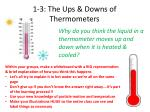 1-3: The Ups & Downs of Thermometers