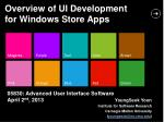 Overview of UI Development for Windows Store Apps