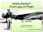 Amelia  Earhart  First Lady of Flight