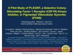 Presented By William Tap at 2014 ASCO Annual Meeting