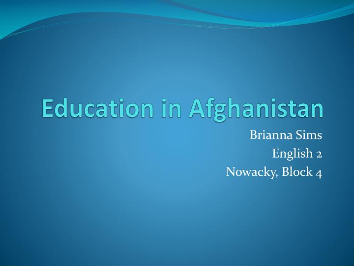 education in afghanistan n.