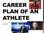 Career plan of an athlete