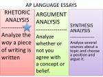 AP LANGUAGE ESSAYS