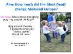 Aim: How much did the Black Death change Medieval Europe?