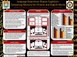 Language Experience S hapes C ognition : Comparing Memory for Chinese and English Words