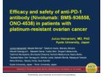 Presented By Junzo Hamanishi at 2014 ASCO Annual Meeting
