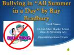 """Bullying in """"All Summer in a Day"""" by Ray Bradbury"""